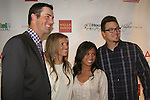 Fellow pitcher Vance Worley and his date with Philadelphia Phillies Pitcher Cole Hamels and wife Heidi who head the Hamels Foundation as it presents Diamonds & Denim on August 27, 2012 at the Crystal Tea Room, Philadelphia, Pennsylvania.  (Photo by Sue Coflin/Max Photos)