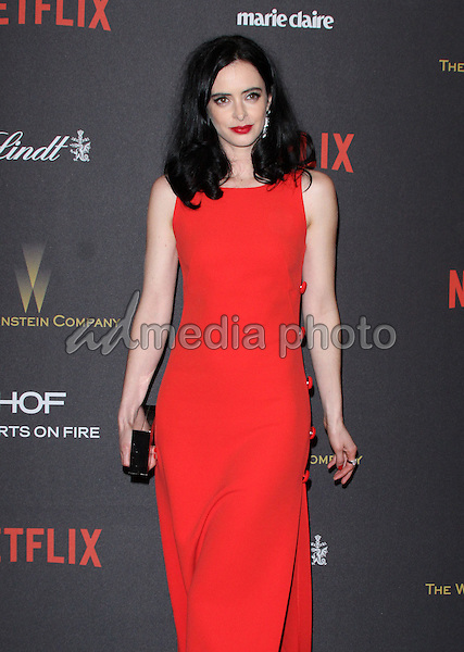 10 January 2016 - Los Angeles, California - Krysten Ritter. 2016 Weinstein Company & Netflix Golden Gloves After Party held at the Beverly Hilton Hotel. Photo Credit: AdMedia