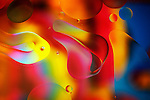Abstract formations created by oil and water