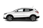 Car driver side profile view of a 2014 Nissan Qashqai Tekna 5 Door SUV