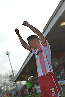 Joe Martin of Stevenage during Stevenage vs Cambridge United, Sky Bet EFL League 2 Football at the Lamex Stadium on 14th April 2018