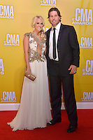 NASHVILLE, TN - NOVEMBER 1: Carrie Underwood and Mike Fisher on the Macy's Red Carpet at the 46th Annual CMA Awards at the Bridgestone Arena in Nashville, TN on Nov. 1, 2012. © mpi99/MediaPunch Inc. ***NO GERMANY***NO AUSTRIA*** .<br />