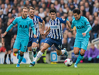 Brighton & Hove Albion's Steven Alzate (left) vies for possession with Tottenham Hotspur's Son Heung-Min (right)<br /> <br /> Photographer David Horton/CameraSport<br /> <br /> The Premier League - Brighton and Hove Albion v Tottenham Hotspur - Saturday 5th October 2019 - The Amex Stadium - Brighton<br /> <br /> World Copyright © 2019 CameraSport. All rights reserved. 43 Linden Ave. Countesthorpe. Leicester. England. LE8 5PG - Tel: +44 (0) 116 277 4147 - admin@camerasport.com - www.camerasport.com