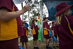 School pupils and a woman on stilts waiting for the Baton as the Queen's Baton Relay visited Coppabella. In the host state of Queensland the Queen's Baton will visit 83 communities from Saturday 3 March to Wednesday 4 April 2018. As the Queen's Baton Relay travels the length and breadth of Australia, it will not just pass through, but spend quality time in each community it visits, calling into hundreds of local schools and community celebrations in every state and territory. The Gold Coast 2018 Commonwealth Games (GC2018) Queen's Baton Relay is the longest and most accessible in history, travelling through the Commonwealth for 388 days and 230,000 kilometres. After spending 100 days being carried by approximately 3,800 batonbearers in Australia, the Queen's Baton journey will finish at the GC2018 Opening Ceremony on the Gold Coast on 4 April 2018.