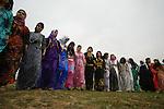 ERBIL, IRAQ: Kurdish women dance in a line at a wedding ceremony...Images from a traditional Kurdish wedding in Iraqi Kurdistan...Photo by Safin Hamid/Metrography