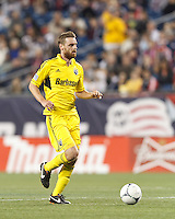 Columbus Crew forward Eddie Gaven (12) at midfield. In a Major League Soccer (MLS) match, the New England Revolution tied the Columbus Crew, 0-0, at Gillette Stadium on June 16, 2012.
