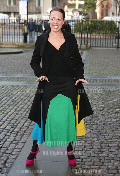Sara Cawood arriving for Children Of Courage service, Westminster Abbey, London. 09/12/2009. Picture by:   Alexandra Glen / Featureflash