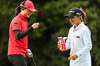 Juliana Hung of Canterbury and Silvia Brunotti of North Harbour. Day Four semi finals of the Toro Interprovincial Women's Championship, Sherwood Golf Club, Whangarei,  New Zealand. Friday 8 December 2017. Photo: Simon Watts/www.bwmedia.co.nz