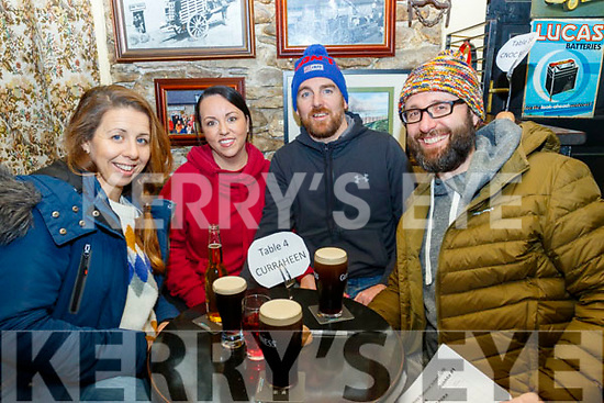 Derryquay National school held a fundraising quiz in the Railway Tavern, Camp last Friday night, pictured are L-R Sandra Martin, LeeAnn McGarry, Richard Martin and Peter Dobes.