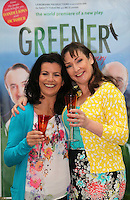 ***NO REPRODUCTION FEE***24/04/12 Cast members, Pauline McLynn, Deirdre O'Kane  pictured at the Gaiety Theatre, Dublin this afternoon  to celebrate only one week to go until the world premiere of Fiona Looney's new play 'Greener' which opens at the Gaiety on May 1st and runs until May 26th. Greener features an all star cast of actors known on stage and screen...  Picture Colin Keegan, Collins, Dublin. ***NO REPRODUCTION FEE***