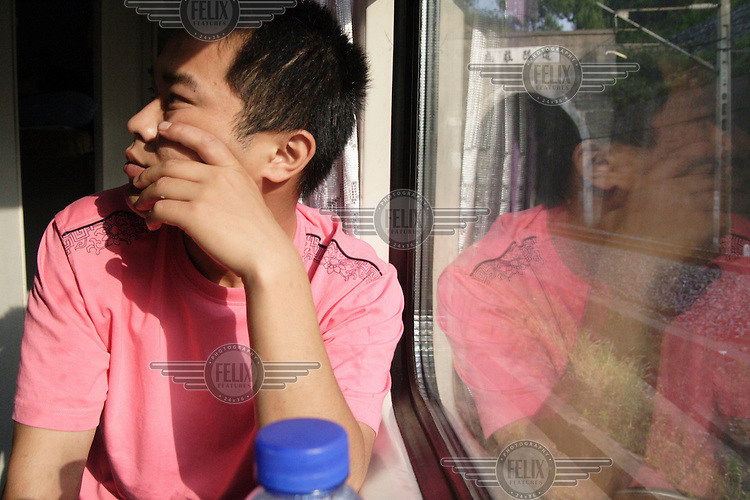 Migrant worker returning home for Chinese new year.