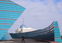 The Kazakhstan Central Concert Hall, designed by Manfredi Nicoletti, in Astana, the capitol of Kazakstan.<br />