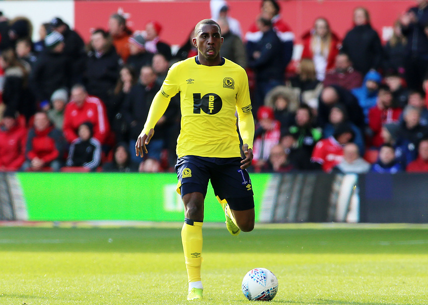 Blackburn Rovers' Amari'i Bell in action<br /> <br /> Photographer David Shipman/CameraSport<br /> <br /> The EFL Sky Bet Championship - Nottingham Forest v Blackburn Rovers - Saturday 13th April 2019 - The City Ground - Nottingham<br /> <br /> World Copyright © 2019 CameraSport. All rights reserved. 43 Linden Ave. Countesthorpe. Leicester. England. LE8 5PG - Tel: +44 (0) 116 277 4147 - admin@camerasport.com - www.camerasport.com