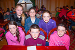 Half Marks<br /> --------------<br /> Representing Glenflesk quiz team including subs of Seated,L-R Leah Burke,Kian Crowley,Alison O'Sullivan,back L-R Caoimhe Crowley,Zara Burke and Eabha Healy