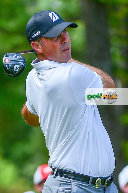 Matt Kuchar (USA) watches his tee shot on 5 during Thursday's round 1 of the PGA Championship at the Quail Hollow Club in Charlotte, North Carolina. 8/10/2017.<br /> Picture: Golffile | Ken Murray<br /> <br /> <br /> All photo usage must carry mandatory copyright credit (&copy; Golffile | Ken Murray)