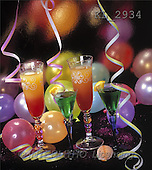 Interlitho, Alberto, STILL LIFES, photos, 4 cocktails, balloons(KL2934,#I#) Stilleben, naturaleza muerta