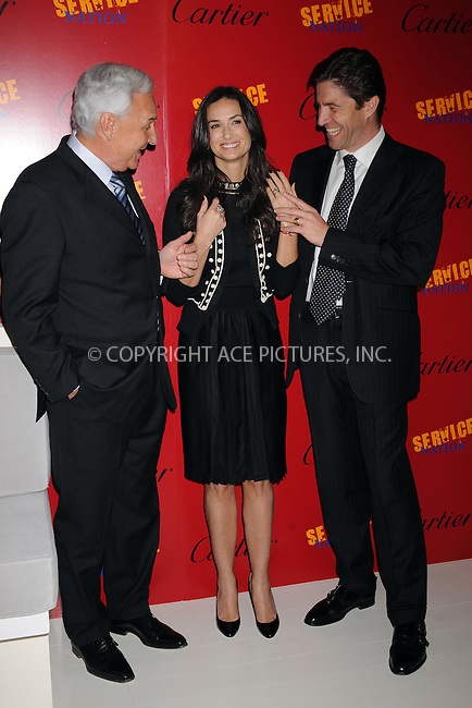 WWW.ACEPIXS.COM . . . . . ....April 30 2009, New York City....President and CEO of Cartier International Bernard Fornas, actress Demi Moore and President and CEO of Cartier North America Frederic de Narp attends a press conference to announce the partnership of Cartier with Servicenation at Cartier Mansion on April 30, 2009 in New York City.....Please byline: KRISTIN CALLAHAN - ACEPIXS.COM.. . . . . . ..Ace Pictures, Inc:  ..tel: (212) 243 8787 or (646) 769 0430..e-mail: info@acepixs.com..web: http://www.acepixs.com