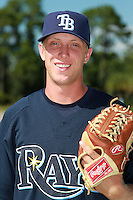 Tampa Bay Rays minor league pitcher Merrill Kelly during an Instructional League game vs. the Minnesota Twins at Charlotte Sports Park in Port Charlotte, Florida;  October 5, 2010.  Photo By Mike Janes/Four Seam Images