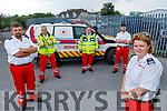 The Irish Red Cross Tralee branch were recently donated an ambulance from the National Ambulance Service and have set up a Go Fund Me Page to help with the cost of fitting out their new  ambulance and are holding a virtual run is on the 22nd of August.  <br /> Front right: Majella Forde. Back l to r: Ryan Freeman, Stephen O'Connor, Liam Mulvihill and Kevin Ash.