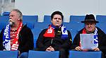 17.10.2010, Rhein-Neckar-Arena, Sinsheim, GER, 1. FBL, TSG Hoffenheim vs Borussia Moenchengladbach, im Bild Hoffenheimer Fans warten auf den Anpfiff, Foto © nph / Roth