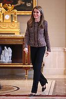 Princess Letizia of Spain attend several audiences at Palacio de la Zarzuela in Madrid, Spain. January 17, 2013. (ALTERPHOTOS/Caro Marin) /NortePhoto