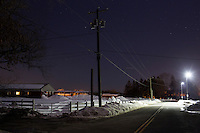 A view Horsebarn Hill Road near the site where Bruce Alan Ursin attempted to abduct and rape a young woman in 2012 on the University of Connecticut Campus in Storrs, Connecticut. The road has a number of agricultural education facilities along it.