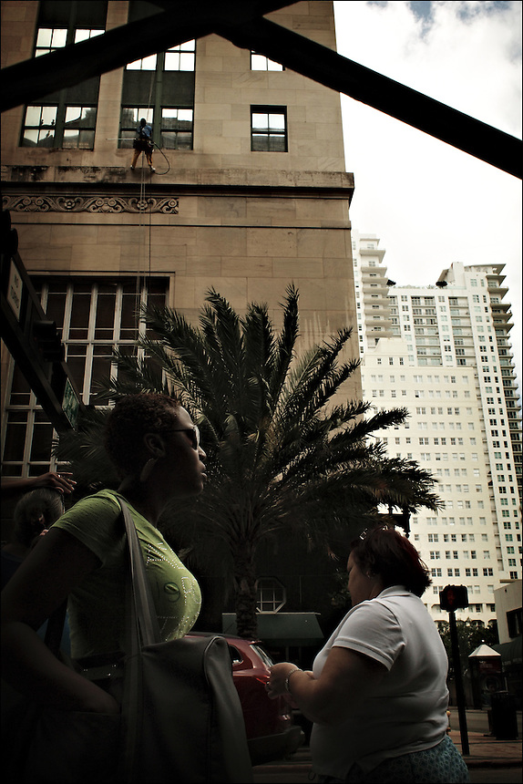"""East Flagler Street<br /> From """"Walking Downtown"""" series<br /> Downtown Miami, March 2011"""