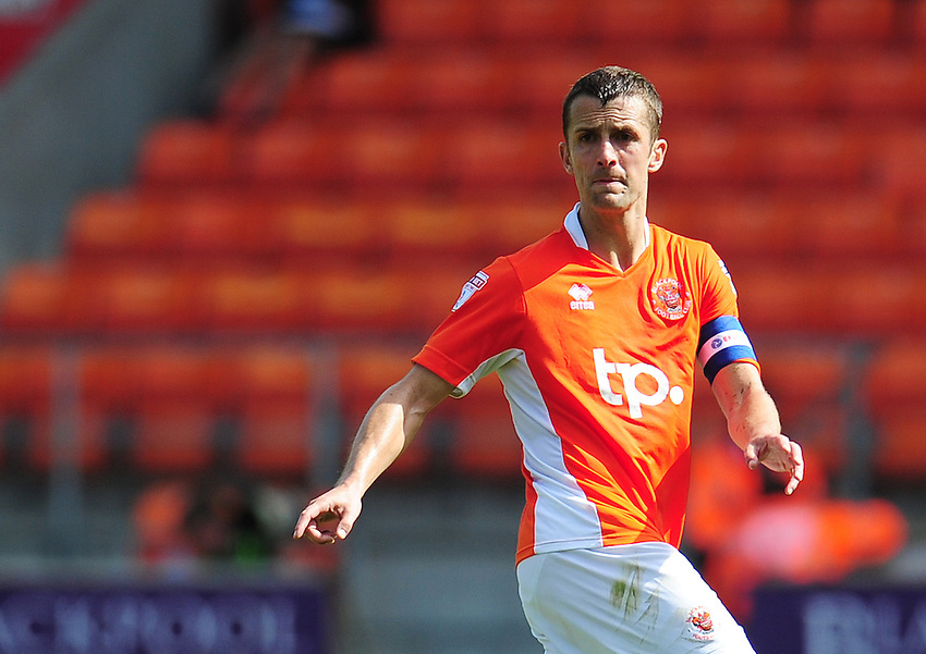 Blackpool's Danny Pugh<br /> <br /> Photographer Kevin Barnes/CameraSport<br /> <br /> Football - The EFL Sky Bet League Two - Blackpool v Exeter City - Saturday 6th August 2016 - Bloomfield Road - Blackpool<br /> <br /> World Copyright &copy; 2016 CameraSport. All rights reserved. 43 Linden Ave. Countesthorpe. Leicester. England. LE8 5PG - Tel: +44 (0) 116 277 4147 - admin@camerasport.com - www.camerasport.com