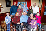 Tom O'Connell from Tarbert celebrating his 70th birthday in the Grand Hotel on Saturday.<br /> Front l to r: Adam Kenny, Georgina, Tom and Mary O'Connell and Laura Kenny. <br /> Back l to r: Tomas O'Connell, Jacinta and Gavin Kenny, Jennifer and Eamon O'Connell.
