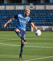 Max Muller of Wycombe Wanderers warms up ahead of the Friendly match between Wycombe Wanderers and AFC Wimbledon at Adams Park, High Wycombe, England on 25 July 2017. Photo by Andy Rowland.