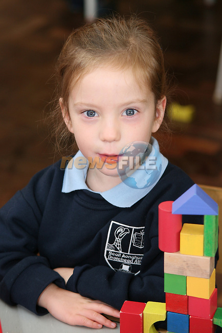 Scoil Aongusa 1st Day at School 2009..Photo NEWSFILE/Jenny Matthews.(Photo credit should read Jenny Matthews/NEWSFILE)....This Picture has been sent you under the condtions enclosed by:.Newsfile Ltd..The Studio,.Millmount Abbey,.Drogheda,.Co Meath..Ireland..Tel: +353(0)41-9871240.Fax: +353(0)41-9871260.GSM: +353(0)86-2500958.email: pictures@newsfile.ie.www.newsfile.ie.FTP: 193.120.102.198.