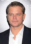 WESTWOOD, CA- AUGUST 07: Actor Matt Damon arrives at the Los Angeles premiere of 'Elysium' at Regency Village Theatre on August 7, 2013 in Westwood, California.