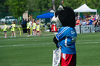 Kansas City, MO - Saturday May 13, 2017:  FC Kansas City mascot prior to a regular season National Women's Soccer League (NWSL) match between FC Kansas City and the Portland Thorns FC at Children's Mercy Victory Field.