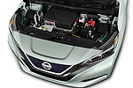 Car stock 2019 Nissan Leaf SV 5 Door Hatchback engine high angle detail view