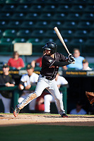 Jupiter Hammerheads left fielder Aaron Knapp (7) at bat during the second game of a doubleheader against the Bradenton Marauders on May 27, 2018 at LECOM Park in Bradenton, Florida.  Jupiter defeated Bradenton 4-1.  (Mike Janes/Four Seam Images)