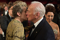 Oscar&reg; nominees Frances McDormand and Christopher Plummer greet each other during the live ABC telecast of the 90th Oscars&reg; at the Dolby&reg; Theatre in Hollywood, CA on Sunday, March 4, 2018.<br /> *Editorial Use Only*<br /> CAP/PLF/AMPAS<br /> Supplied by Capital Pictures