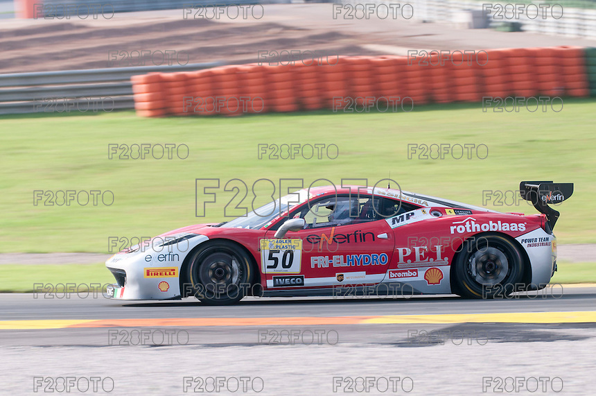 VALENCIA, SPAIN - OCTOBER 2: David Gostner during Valencia Ferrari Challenge 2015 at Ricardo Tormo Circuit on October 2, 2015 in Valencia, Spain