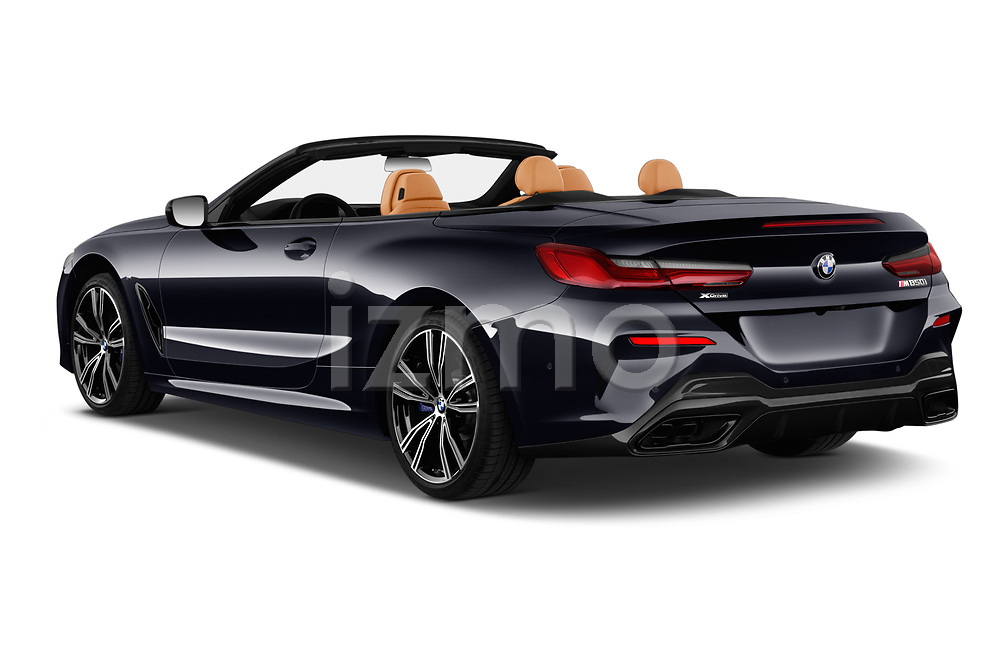 Car pictures of rear three quarter view of 2019 BMW 8-Series - 2 Door Convertible Angular Rear