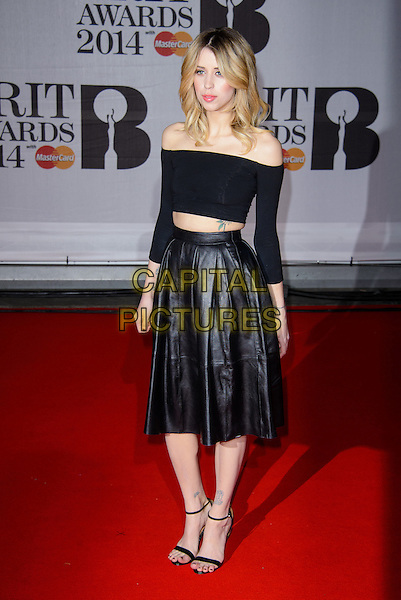 LONDON, ENGLAND - FEBRUARY 19: Peaches Geldof attends the BRIT Awards 2014 at THE O2 Arena on February 19, 2014 in London, England. <br /> CAP/CJ<br /> &copy;Chris Joseph/Capital Pictures