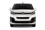 Car photography straight front view of a 2017 Citroen Space Tourer Business 4 Door Passenger Van