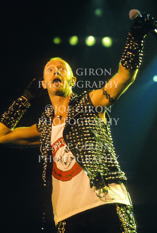 Various portraits & live photographs of the rock band, Judas Priest.