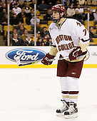 Carl Sneep (Boston College - Nisswa, Minnesota) - The Boston College Eagles defeated the Harvard University Crimson 3-1 in the first round of the 2007 Beanpot Tournament on Monday, February 5, 2007, at the TD Banknorth Garden in Boston, Massachusetts.  The first Beanpot Tournament was played in December 1952 with the scheduling moved to the first two Mondays of February in its sixth year.  The tournament is played between Boston College, Boston University, Harvard University and Northeastern University with the first round matchups alternating each year.