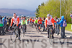 The Cycle Against Suicide arriving at the IT Tralee north campus on Friday..