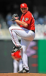 8 June 2008: Washington Nationals' pitcher Joel Hanrahan on the mound in relief against the San Francisco Giants at Nationals Park in Washington, DC. The Nationals dropped the afternoon matchup to the Giants 6-3 in their third consecutive loss of the 4-game series...Mandatory Photo Credit: Ed Wolfstein Photo