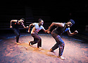The Brothers Size by Tarell Alvin McCraney , A Co Production between Young Vic and Actors Touring Company directed by Bijan Sheibani. With Anthony Welsh as Elegba, Jonathan Ajayi as Oshoosi,Sope Dirisu as Ogun.   Opens at The Young Vic Theatre on 26/1/18. CREDIT Geraint LewisEDITORIAL USE ONLY