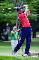 Russell Knox (SCO) watches his tee shot on 7 during round 2 of the World Golf Championships, Mexico, Club De Golf Chapultepec, Mexico City, Mexico. 3/3/2017.<br />
