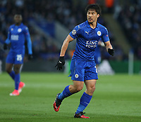 Leicester City's Shinji Okazaki<br /> <br /> Photographer Stephen White/CameraSport<br /> <br /> UEFA Champions League Quarter Final Second Leg - Leicester City v Atletico Madrid - Tuesday 18th April 2017 - King Power Stadium - Leicester <br />  <br /> World Copyright &copy; 2017 CameraSport. All rights reserved. 43 Linden Ave. Countesthorpe. Leicester. England. LE8 5PG - Tel: +44 (0) 116 277 4147 - admin@camerasport.com - www.camerasport.com