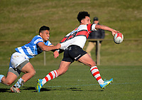 Action from the Weltec Premiership Wellington secondary schools rugby fixture between Scots College and St Patrick's College Silverstream at Porirua Park in Wellington, New Zealand on Saturday, 5 August 2017. Photo: Dave Lintott / lintottphoto.co.nz