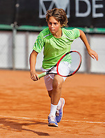 Netherlands, Rotterdam August 05, 2015, Tennis,  National Junior Championships, NJK, TV Victoria, Luca van den Berg   Luka Novakovic<br /> Photo: Tennisimages/Henk Koster
