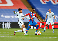 7th July 2020; Selhurst Park, London, England; English Premier League Football, Crystal Palace versus Chelsea; Reece James of Chelsea challenges Jordan Ayew of Crystal Palace